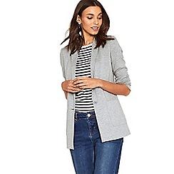 Oasis - Mid grey lightweight jersey jacket