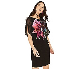 Oasis - Multi black lily overlay dress