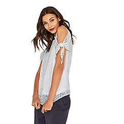 Oasis - White lace tie sleeve top