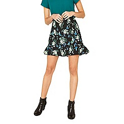 Oasis - Multi secret garden flippy mini skirt