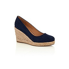 Oasis - Navy 'Willow' wedges