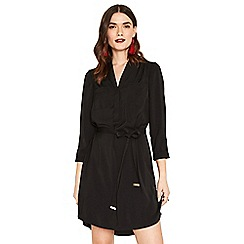 Oasis - Black half placket shirt dress