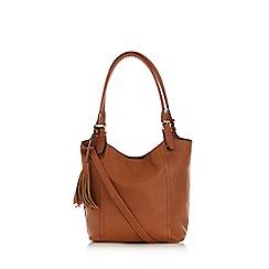 Oasis - Tan 'fran' tassel tote bag