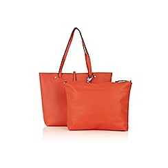 Oasis - Multi orange 'Havana' print 'Sunny' shopper