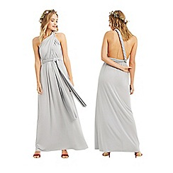 Oasis - Pale grey 'Annie' wear it your way maxi dress
