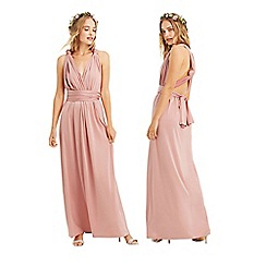 Oasis - Mid pink 'Annie' wear it your way maxi dress