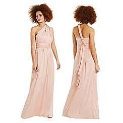 Oasis - Dusky pink 'Annie' wear it your way maxi dress