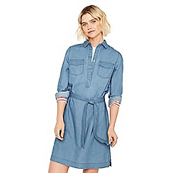 Oasis - Light wash 'Claudia' shirt dress