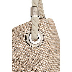 Oasis - Medium gold sunshine straw shopper bag