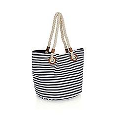 Oasis - Multi 'Napoli' stripe shopper bag