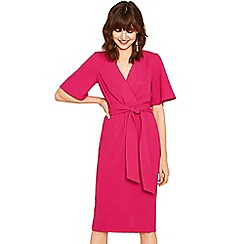 Oasis - Mid pink wiggle angel sleeves dress