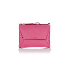 Oasis - Mid pink leather 'Dex' clutch bag with chain
