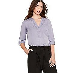 Oasis - Lilac pintuck viscose shirt