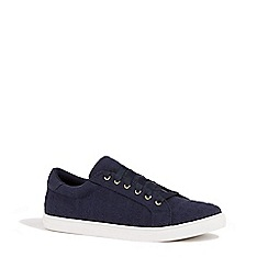 Oasis - Navy broidery trainers