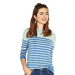 Oasis - Blue and mint stripe sweat