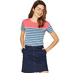 Oasis - Coloured stripe slogan t-shirt
