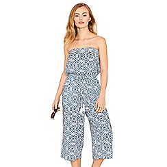 Oasis - Multi blue 'Apollonia' bardot jumpsuit