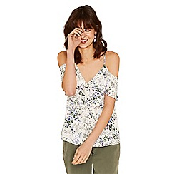 Oasis - Multi natural 'Provence' tie sleeve cami