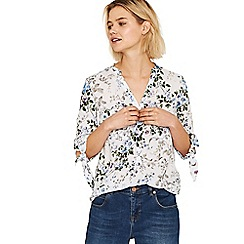 Oasis - Multi blue 'Provence' trailing ditsy shirt