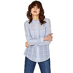 Oasis - Multi blue long sleeve soft check shirt