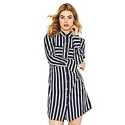 Oasis - Multi blue stripe shirt dress