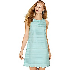 Oasis - Mint textured stripe shift dress