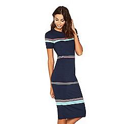 Oasis - Multi rainbow 'Polly' stripe dress