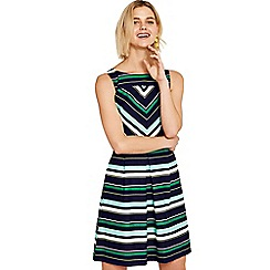 Oasis - Multi coloured 'Napoli' stripe skater dress