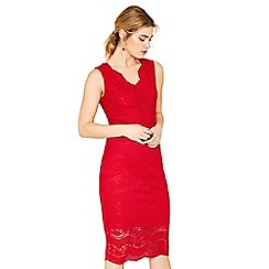 Oasis - Mid red lace dress