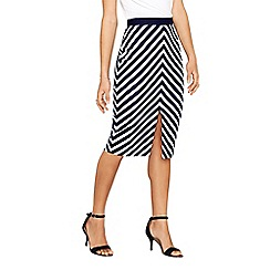 Oasis - Multi coloured collegiate stripe pencil skirt
