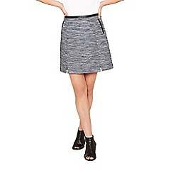 Oasis - Multi blue spring tweed mini skirt