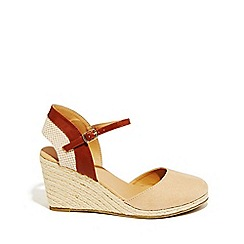 Oasis - Tan 'Aimee' open back wedges