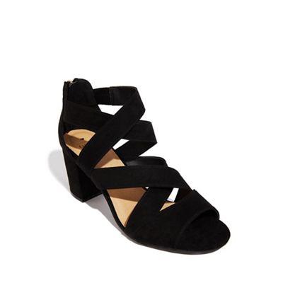Oasis - Black 'Sarah' strappy block heels