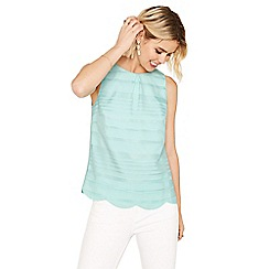Oasis - Grid stripe shell top