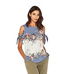Oasis - Provence cold shoulder top
