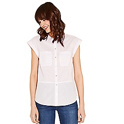 f3971d9ffa22cc Oasis - Multi pink short sleeve cutabout stripe shirt