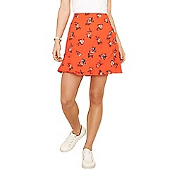Oasis - Multi orange bouquet 'Provence' frill skirt