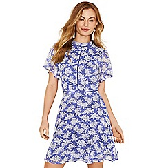 Oasis - Multi blue 'Provence' ditsy dress