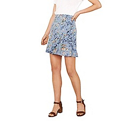 Oasis - Multi coloured 'Provence' frill flippy skirt
