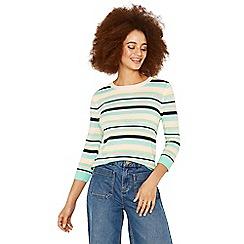 Oasis - Off white 'Napoli' stripe knitwear