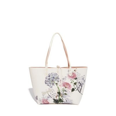 Oasis   Multi Reversible 'natural History Museum' Tie Bow Shopper by Oasis