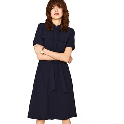 Oasis   Navy Safari Midi Dress by Oasis