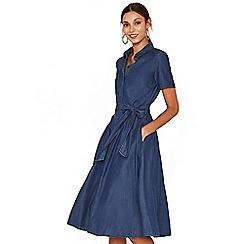 Oasis - Denim midi shirt dress