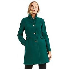 Oasis - Dark green 'Spruce' funnel princess coat