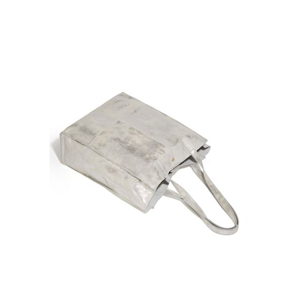 bag shopper unlined Silver leather Oasis XqwcFSxTFI