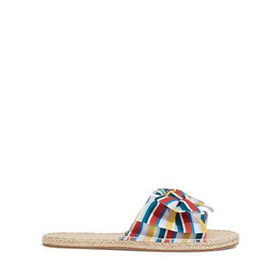 Oasis - Multi stripe bow espadrille sliders