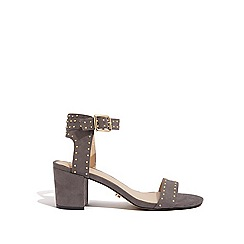 Oasis - Mid grey studded block heels