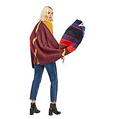 Oasis - Light orange wide stripe scarf