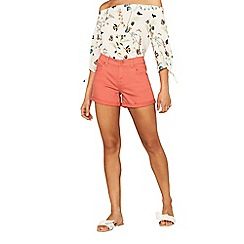 Oasis - Coral denim shorts