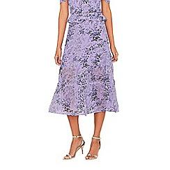 Oasis - Multi lilac 'Provence' tiered midi skirt